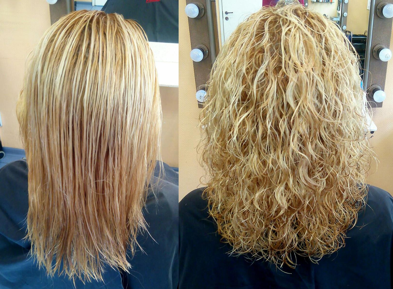 Как сделать хим завивку на волосы 45